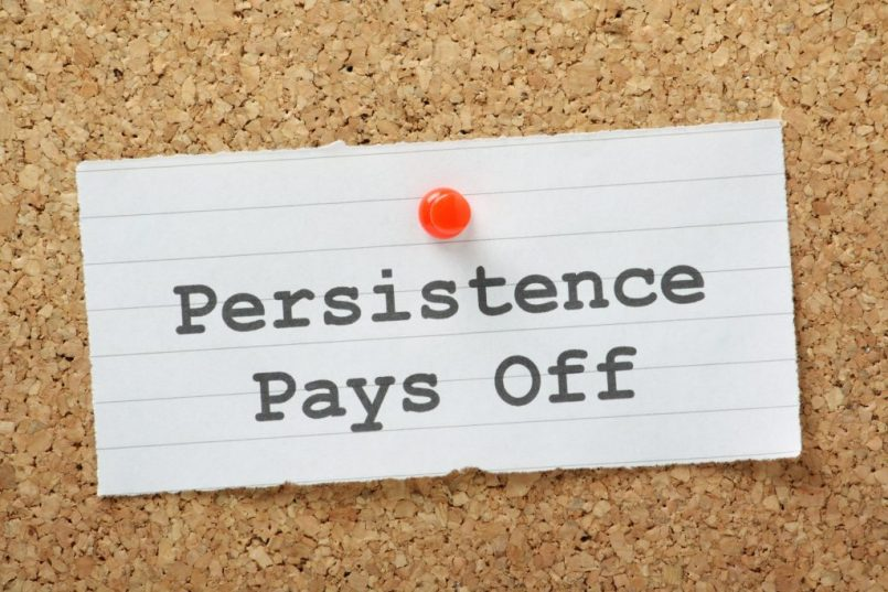 Inbound Marketing and Blogging is all about persistence