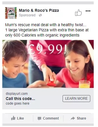 Facebook Micro Targeting Advert