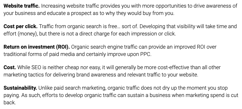 Why SEO is cost effective
